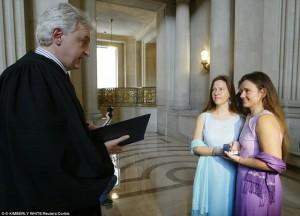 Matrimonio tra donne lesbiche a San Francisco