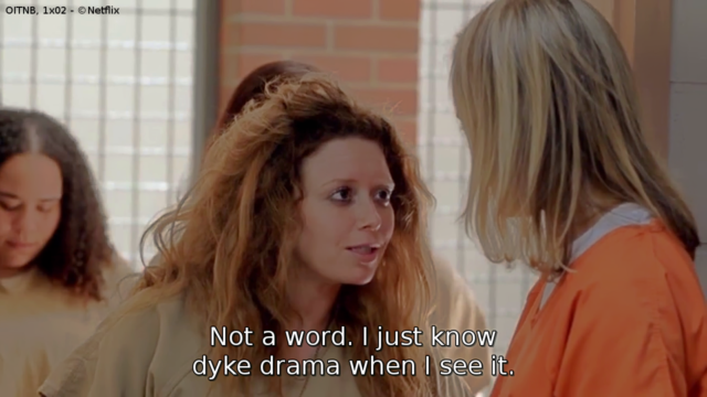 Nicky, una delle protagoniste di Orange is the new black