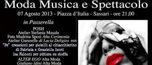 Serata all'insegna della Moda Musica e Spettacolo a Sassari