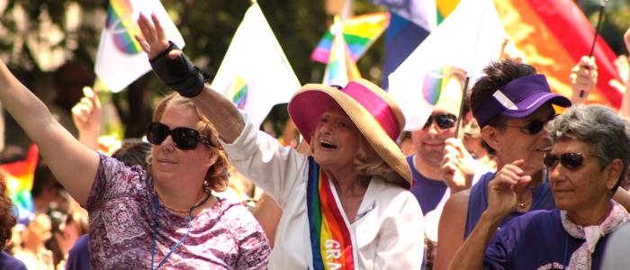 Edith Windsor al Pride di New York