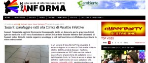 Il MOS di Sassari denunciato per l'inchiesta sul degrado di Malattie Infettive