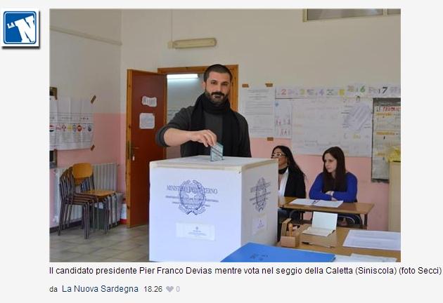 Devias al voto per le Regionali in Sardegna