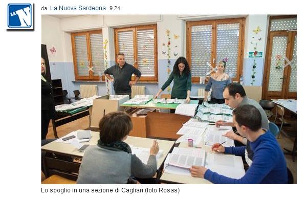 regionali Sardegna: lo spoglio a Cagliari
