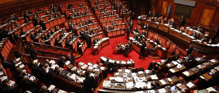 L'Aula del Senato a Palazzo Madama