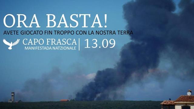 Sardegna Possibile a Capo Frasca contro le servitù militari