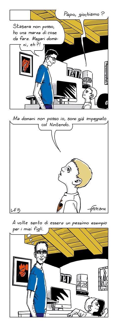 Troppo impegnato, fumetto di Fam