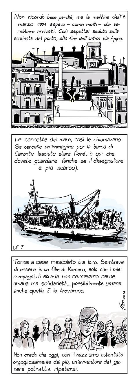 La barca di Caronte, fumetto di Fam