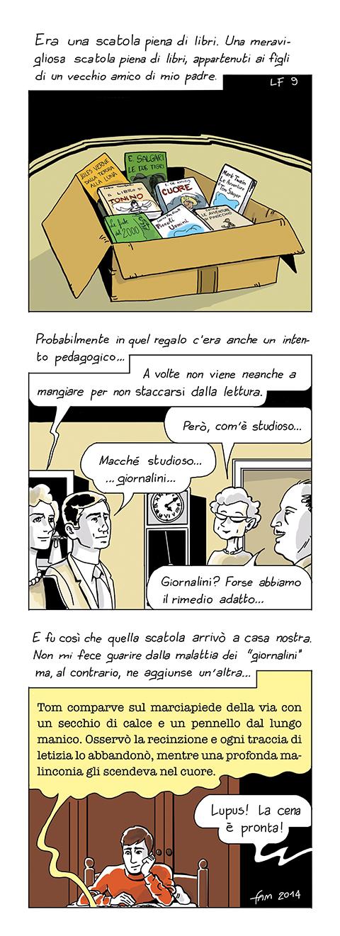 La malattia dei giornalini, fumetto di Fam
