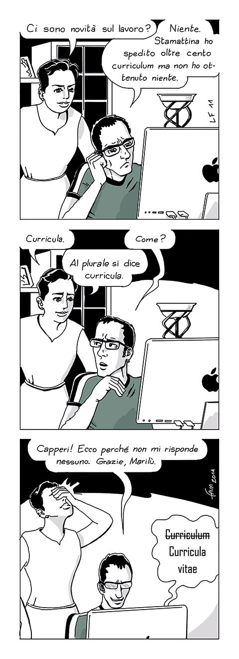 Curriculum, Fumetto di Fam
