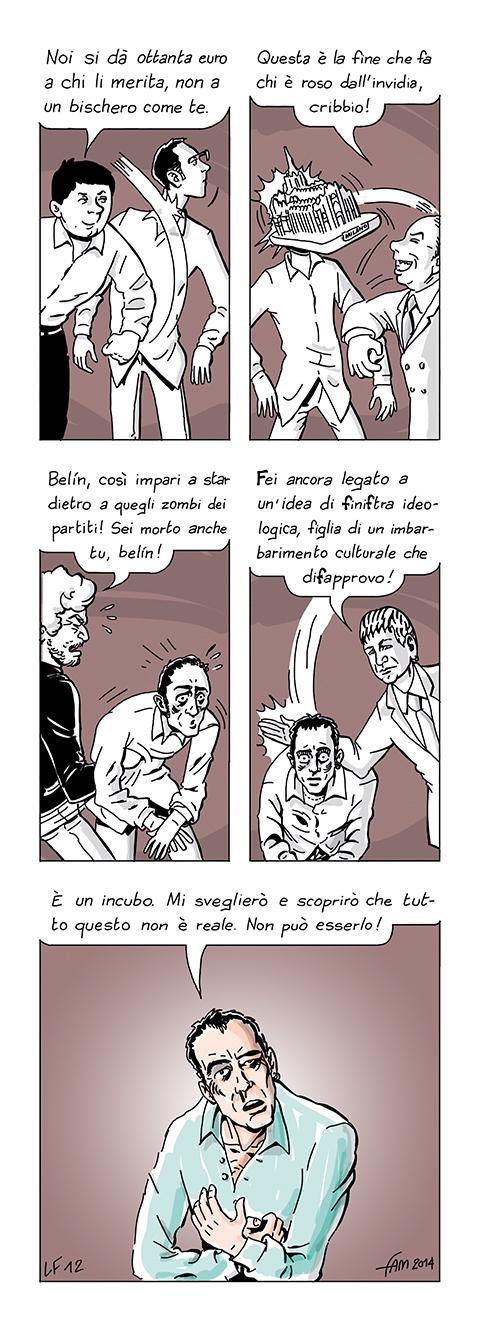 Lupus Fabulo e la politica, fumetto di Fam