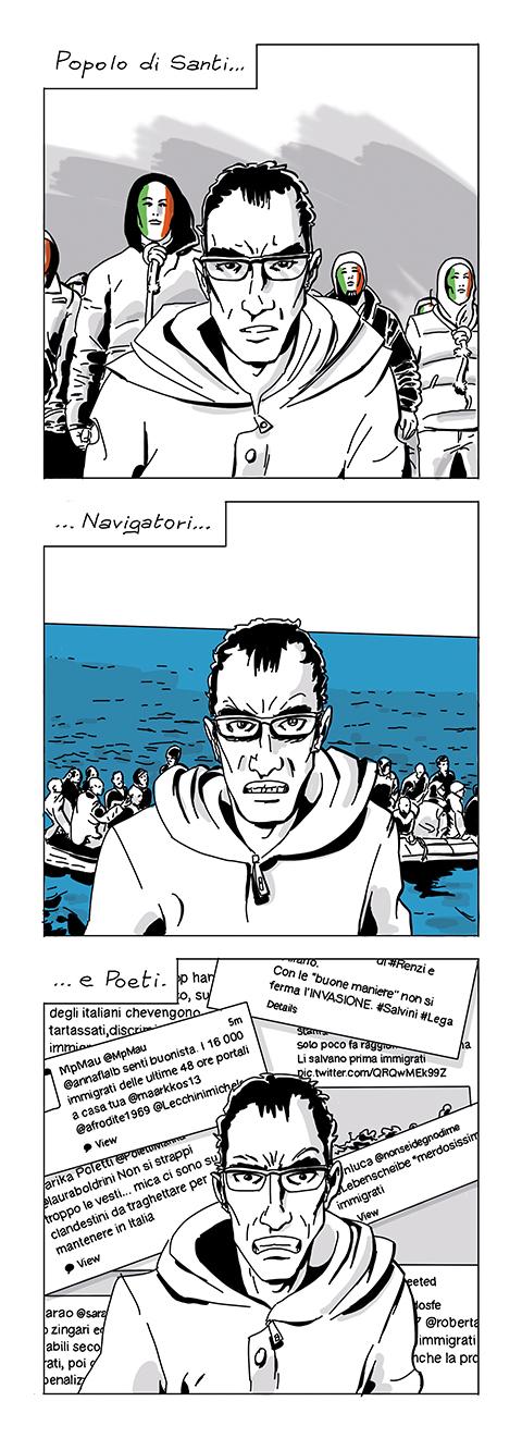 Io non mi sento italiano (Gaber docet), fumetto di Fam