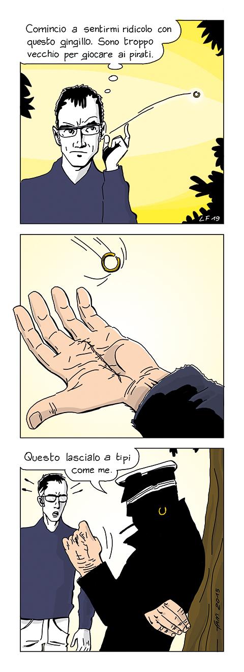 L'anello, fumetto di Fam