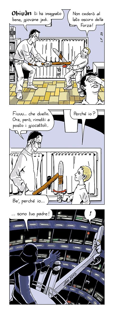 Il lato oscuro della Forza, fumetto di Fam