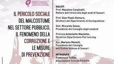 Un convegno sulla corruzione all'Università di Sassari