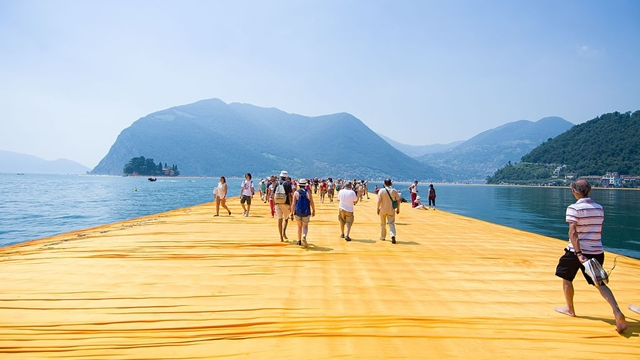 Iseo Floating Piers Christo
