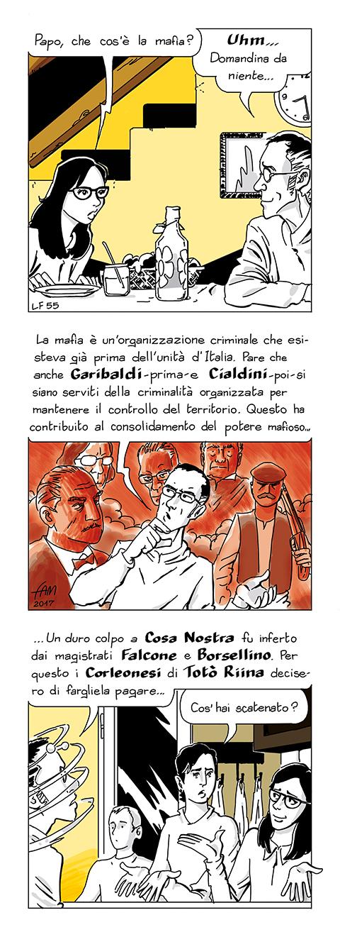 Che cos'è la mafia? Fumetto di Fam