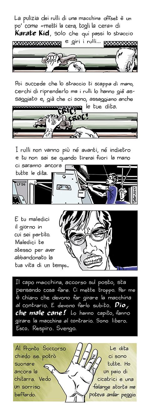 Lavorare con lentezza, fumetto di Fam
