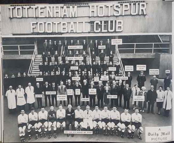 Foto storica staff Tottenham 1961