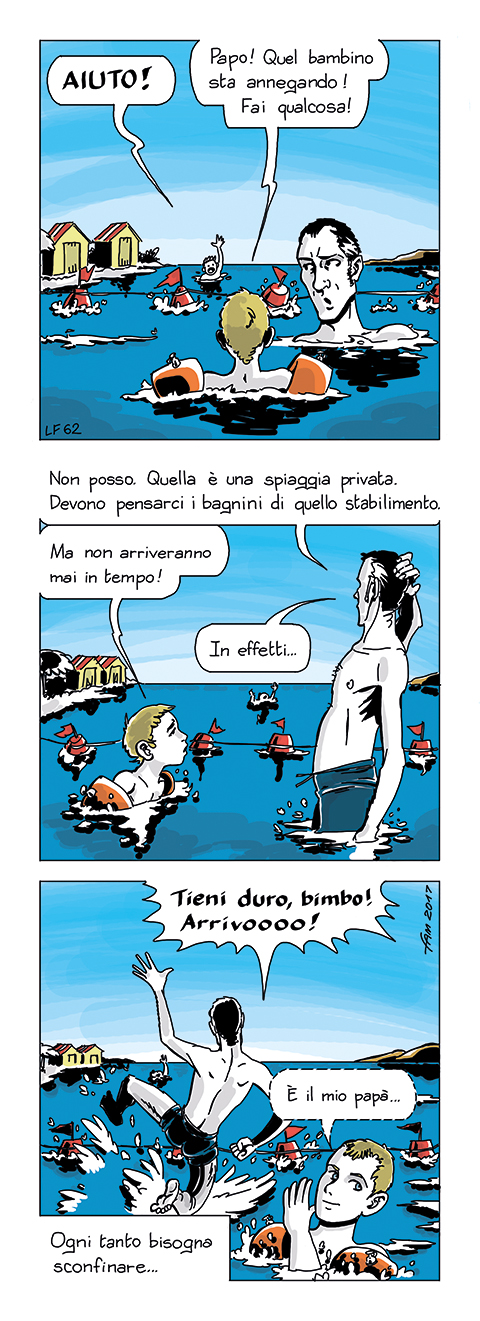 Acque territoriali, fumetto di Fam